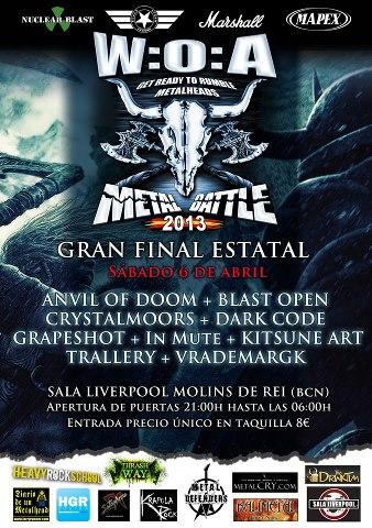 CartelFinal WACKEN METAL BATTLE SPAIN 2013