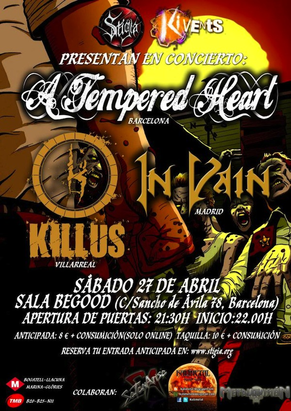 A TEMPERED HEART BARCELONA KILLUS IN VAIN