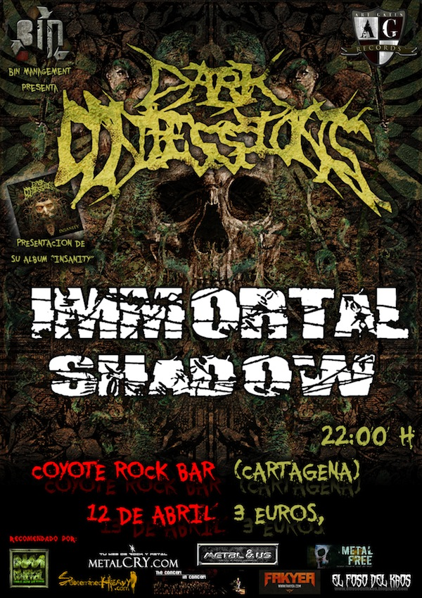Dark Confessions (Coyote Rock Bar, Cartagena)