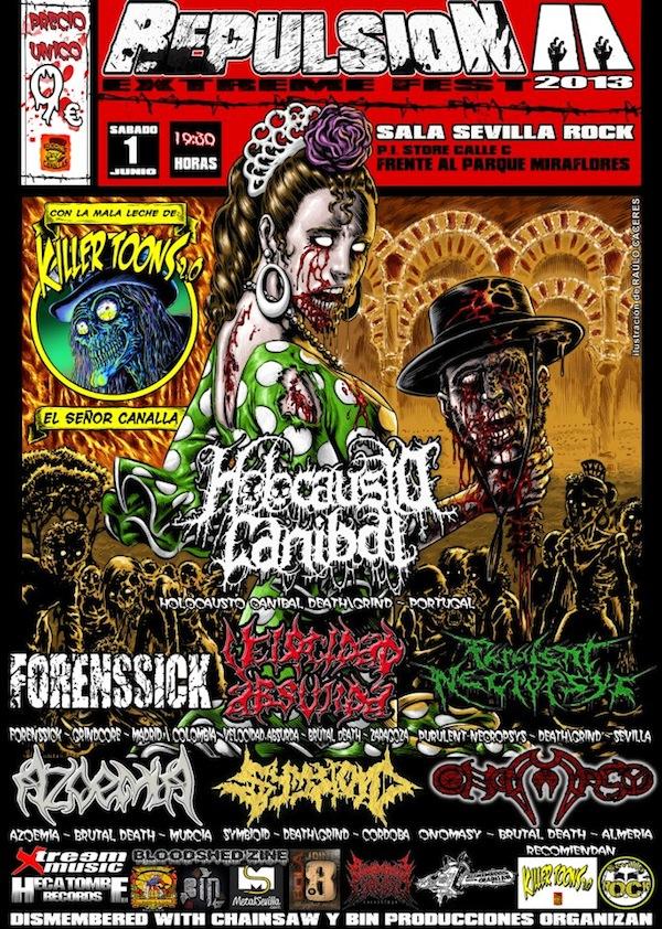 Repulsion Fest 2 (Sala SevillaRock, Sevilla)