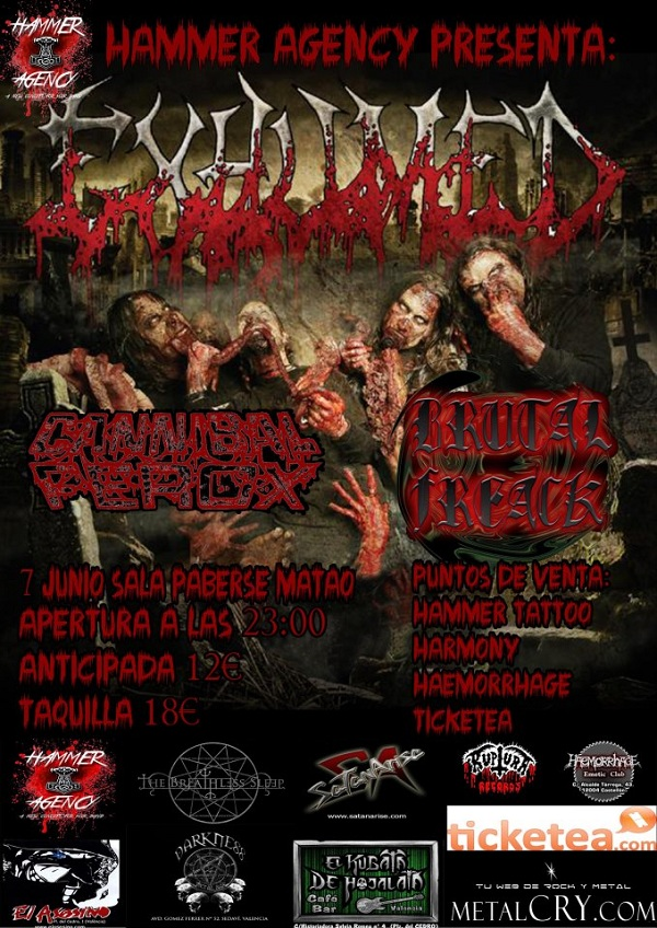 Exhumed_Valencia_7-6-13_Cartel