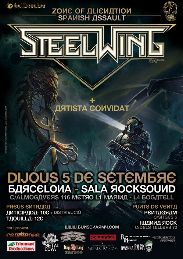 Steelwing_Barcelona_5-9-13_Cartel