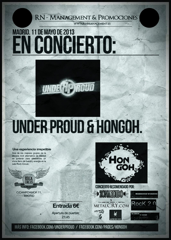 UNDER PROUD + HONGOH MADRID