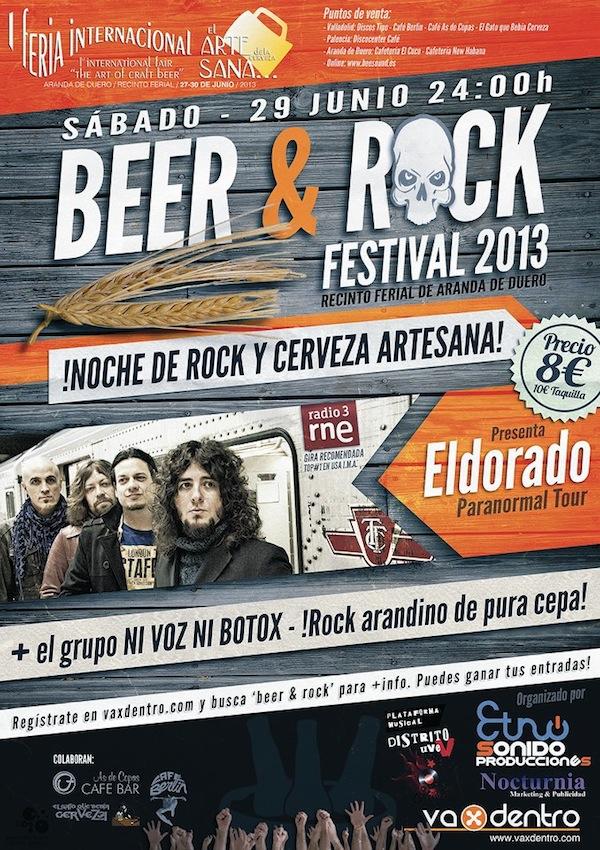 Cartel oficial concierto Beer&Rock