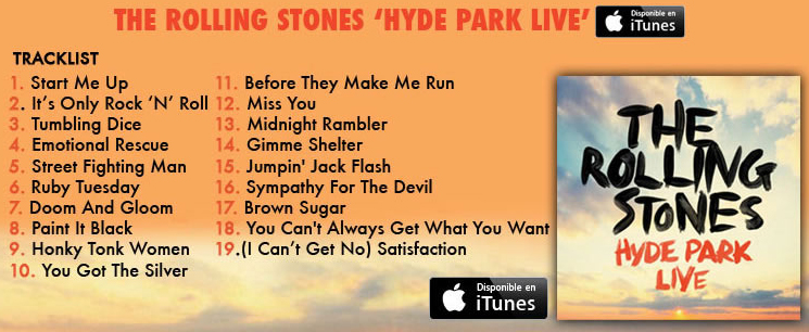 ROLLING STONES HYDE PARK TRACKLIST