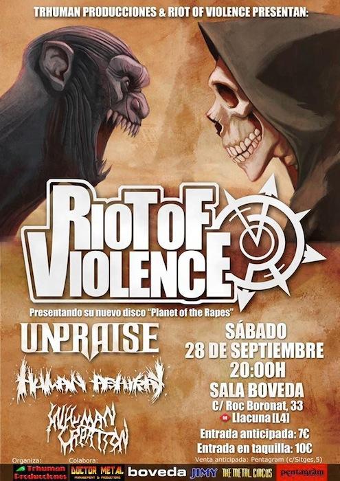 RIOT OF VIOLENCE BARCELONA 2013