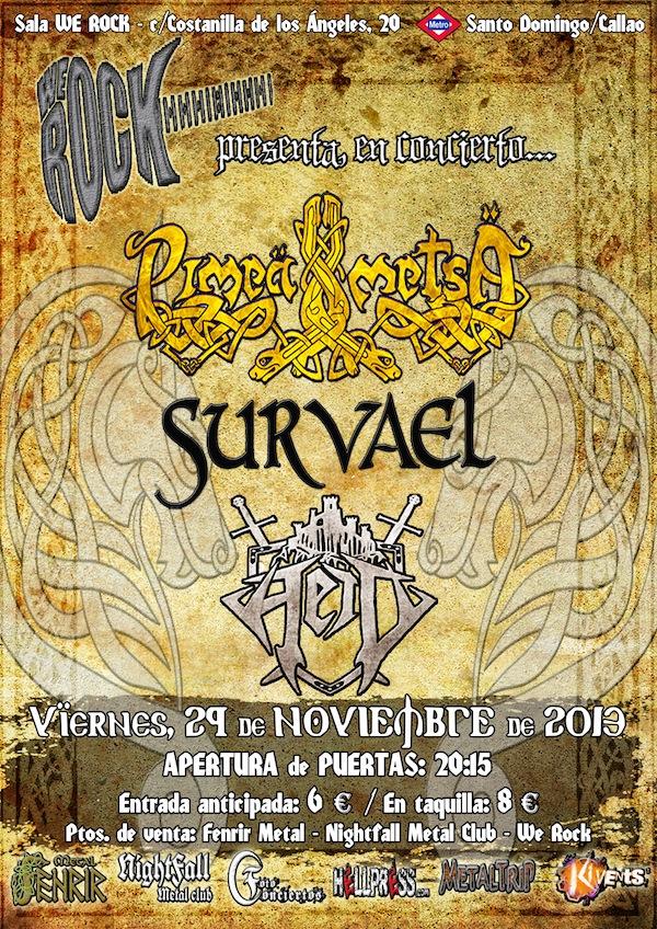 SURVAEL, PIMEA METSA Cartel concierto We Rock 29 Nov 2013 (4.0)