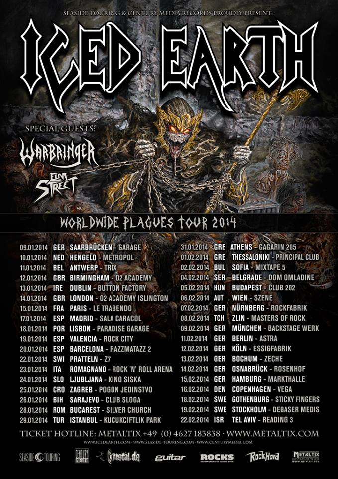 iced earth cartel gira