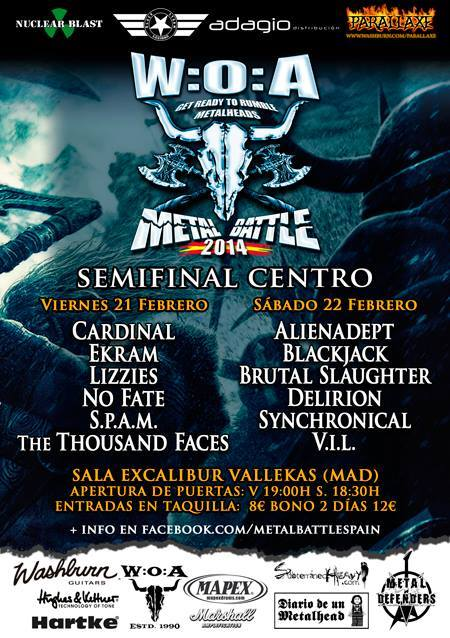 W:O:A METAL BATTLE SPAIN MADRID 2014