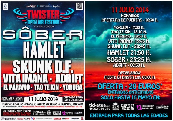 twister open air festival horarios