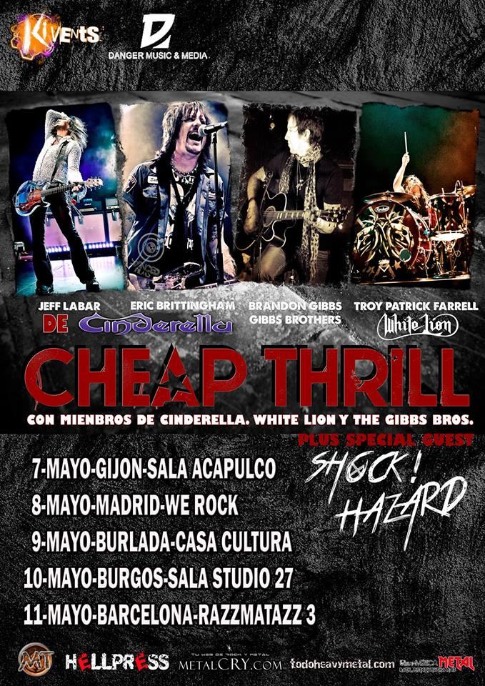 cheap thrill fechas