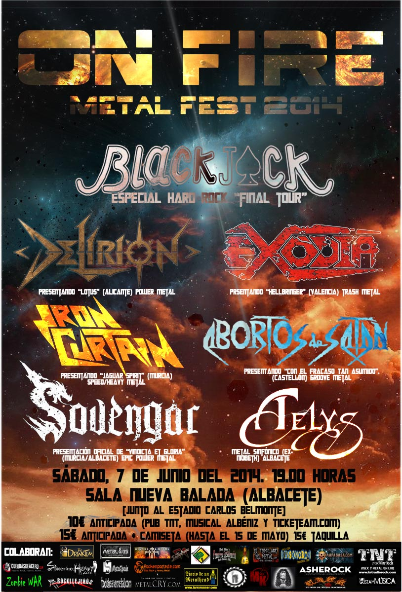 ON FIRE METAL FEST Cartel del Festival copia