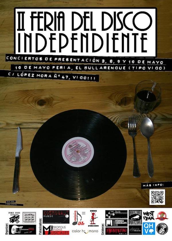 II Feria del Disco Independiente de Vigo - Cartel (1)