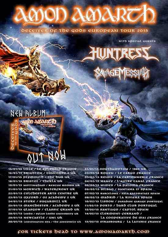 Amon Amarth gira 2015