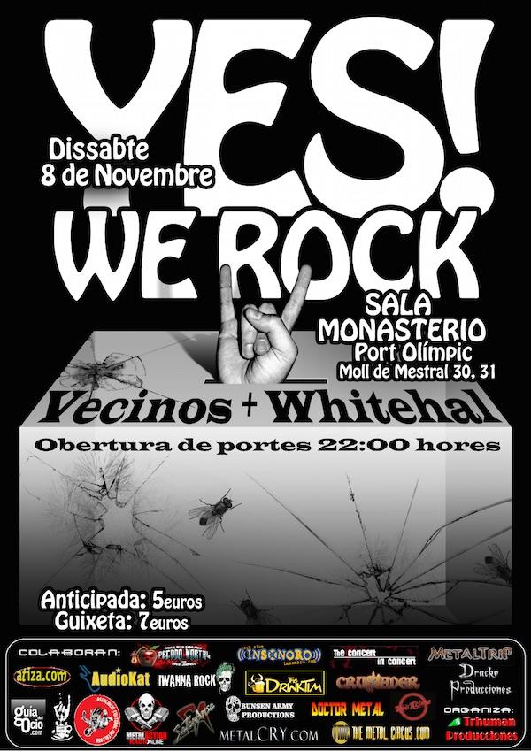CARTEL LOS VECINOS + WHITEHAL   08-11-2014