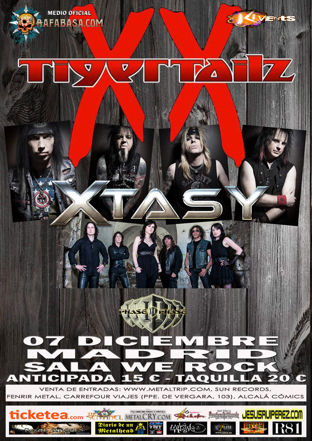 CARTEL TIGERTAILZ MADRID 2014