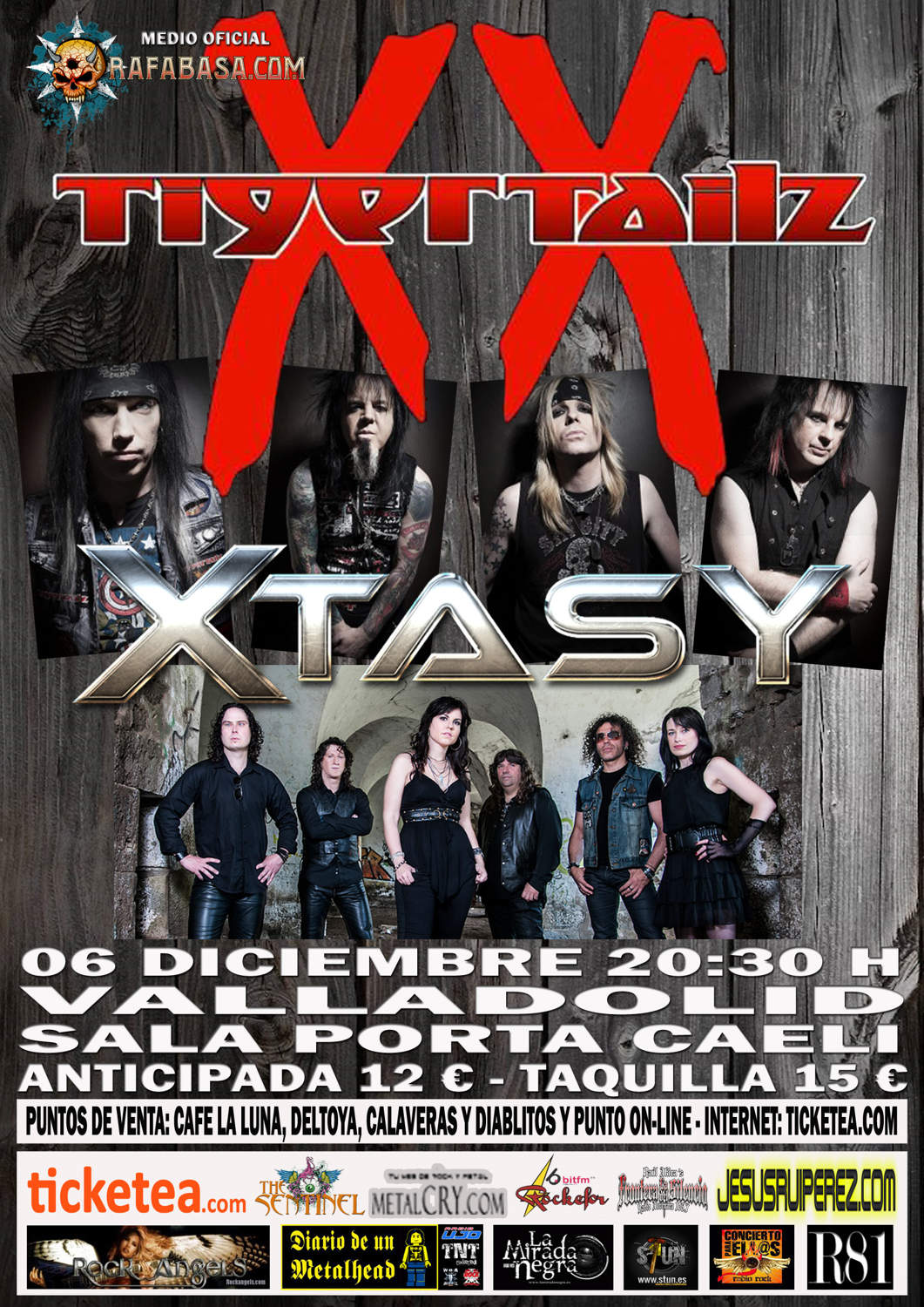 CARTEL TIGERTAILZ VALLADOLID 2014