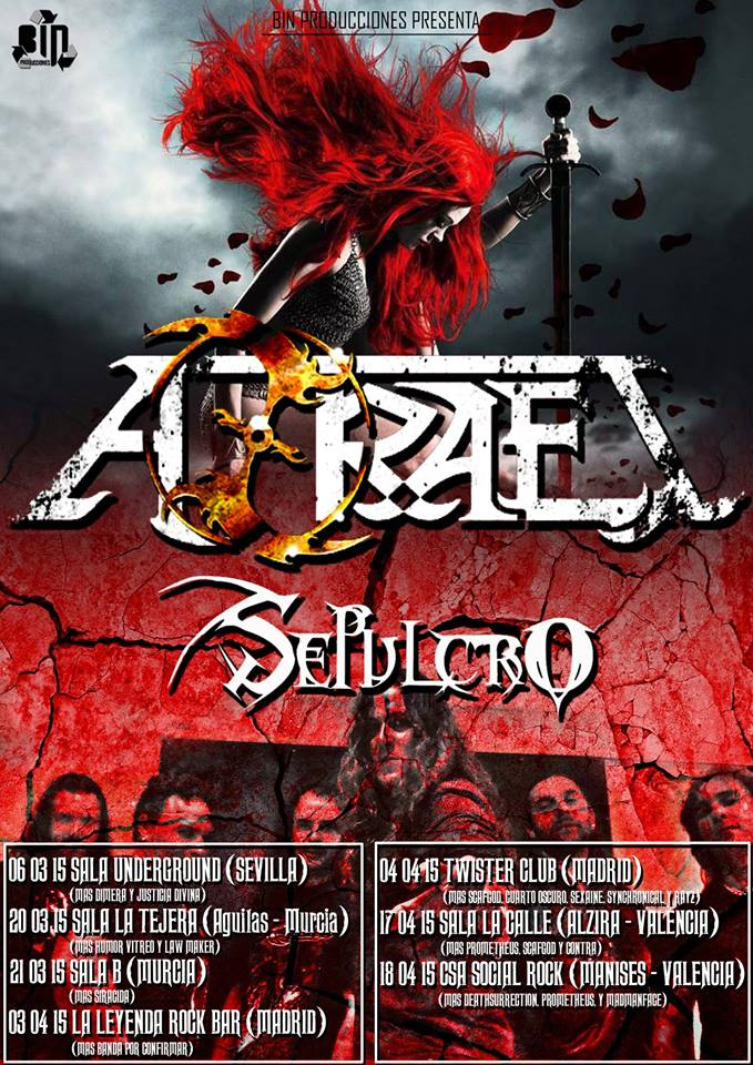 AZRAEL ANUNCIAN GIRA ESTATAL – Metalcry.com :: Tu Web de Rock y Metal