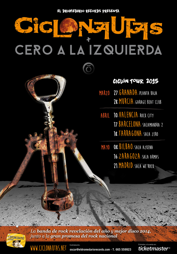 cartel final ciclon tour