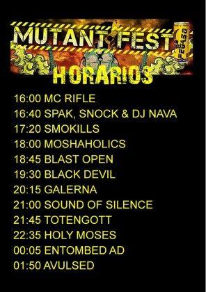 Mutant Fest 2015 horarios