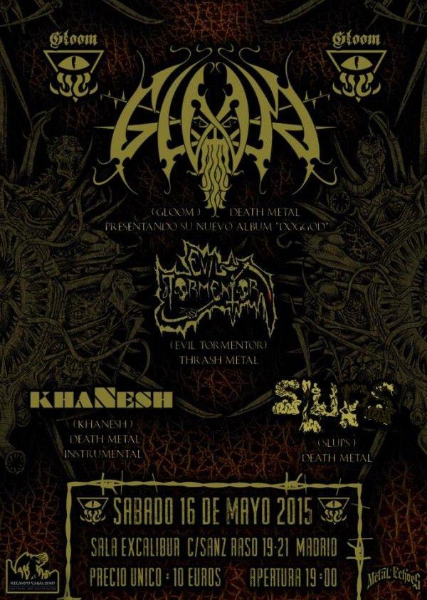Gloom_Madrid_16-5-15_Cartel