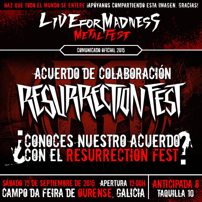 ACUERDO RESURRECTION FEST - Live For Madness Metal Fest 2015