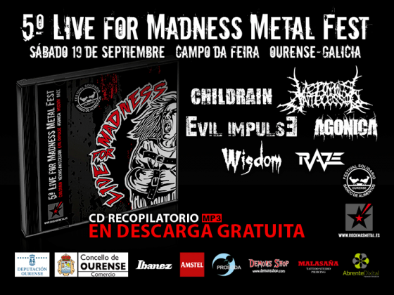 CD PROMOCIONAL - Live For Madness Metal Fest 2015