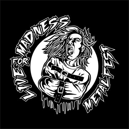 LOGO FONDO NEGRO - Live For Madness Metal Fest 2015