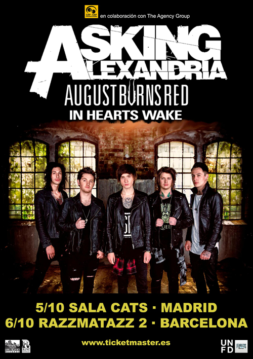 Cartel gira Asking Alexandria_low