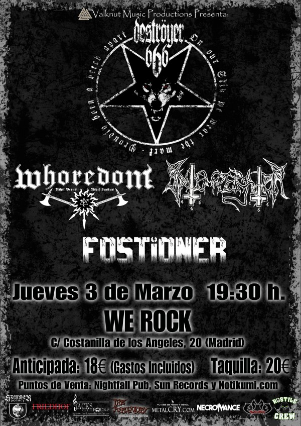 CARTEL CONCIERTO DESTROYER666