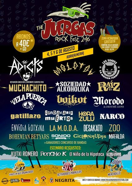 Cartel Juergas Rock2016 Con  Adicts