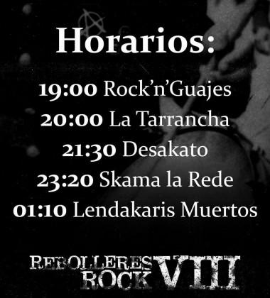 Rebolleres Rock horarios