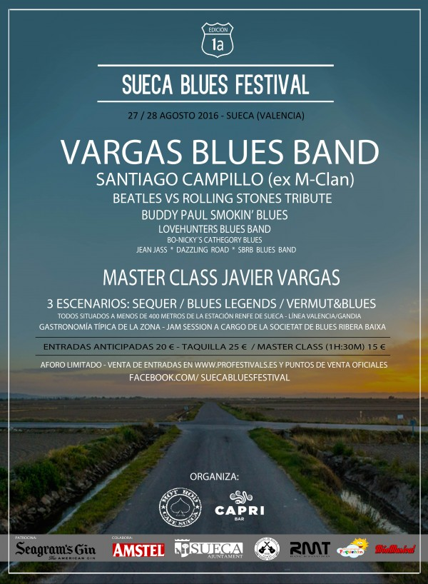 Sueca Blues Festival Cartel