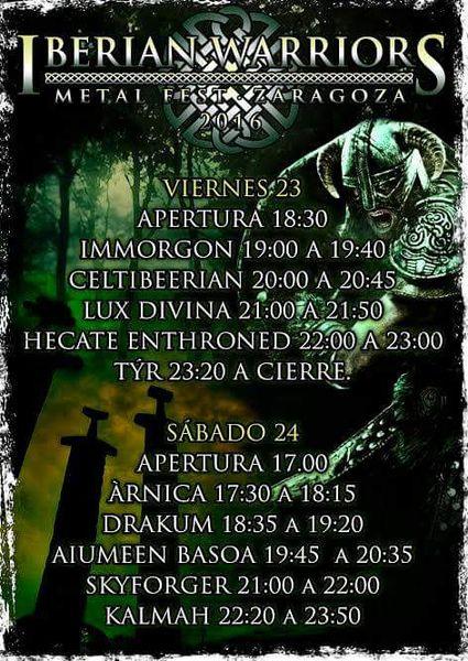 iberianwarriors2016-horarios