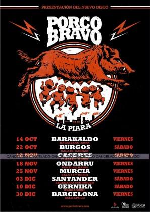 PORCO BRAVO GIRA 2016