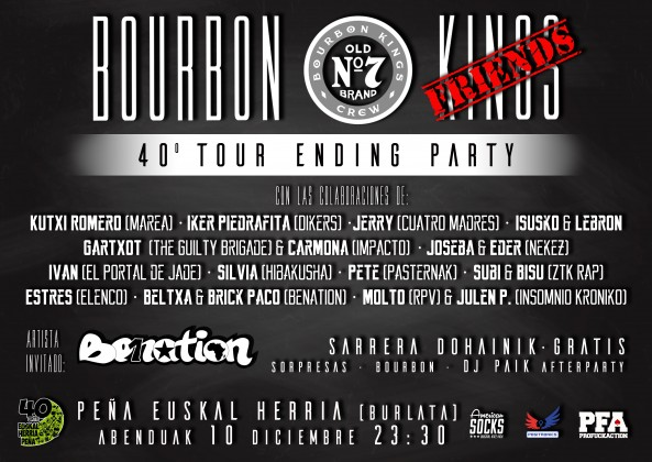 Cartel FIN DE GIRA - Bourbon Kings