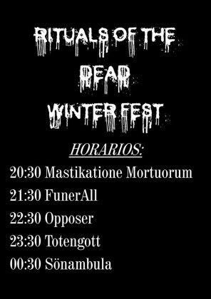 Ritual of the dead winterfest horarios