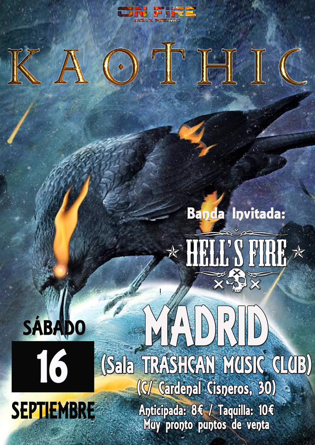 Cartel Kaothic Madrid