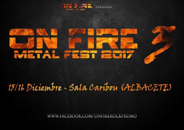 On Fire Metal Fest 3 Fecha y Sala