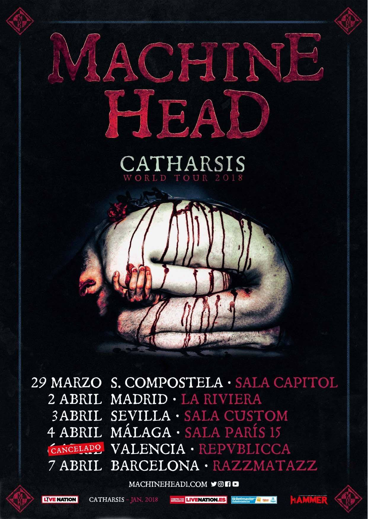 Machine Head Fechas 2018