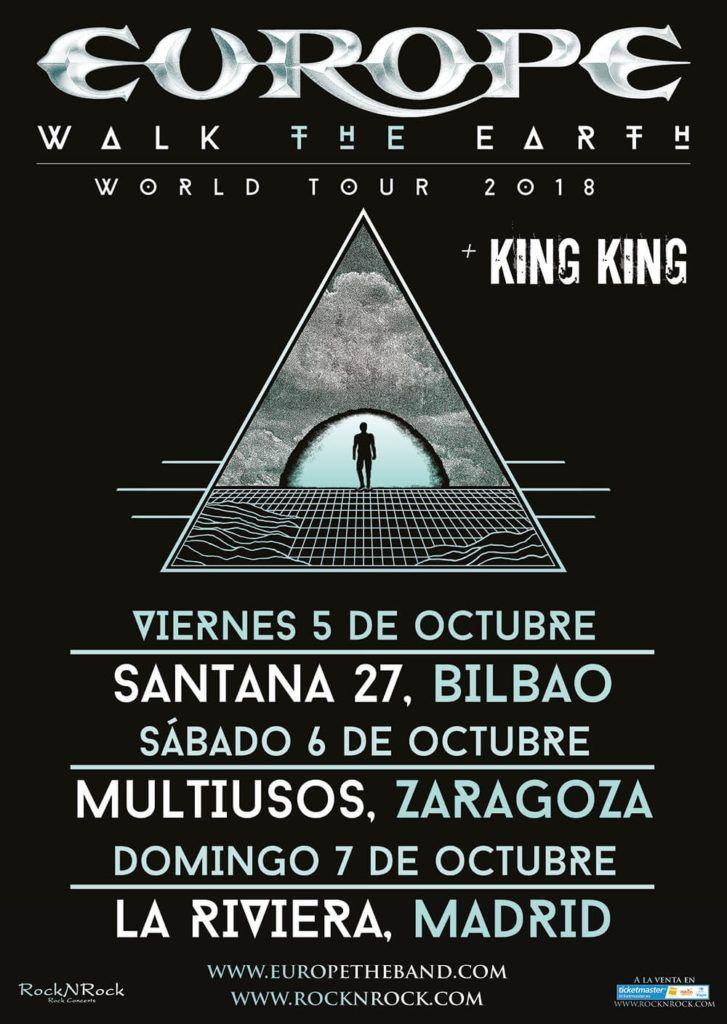 Europe gira 2018