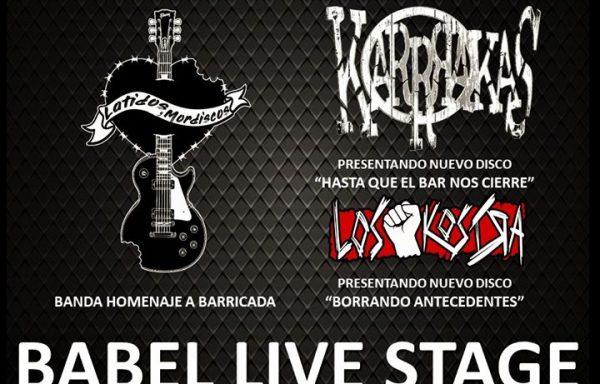 LOS KOSTRA+ KARRRAKAS @ Sala Babel live stage, Alicante// 11-01-2019